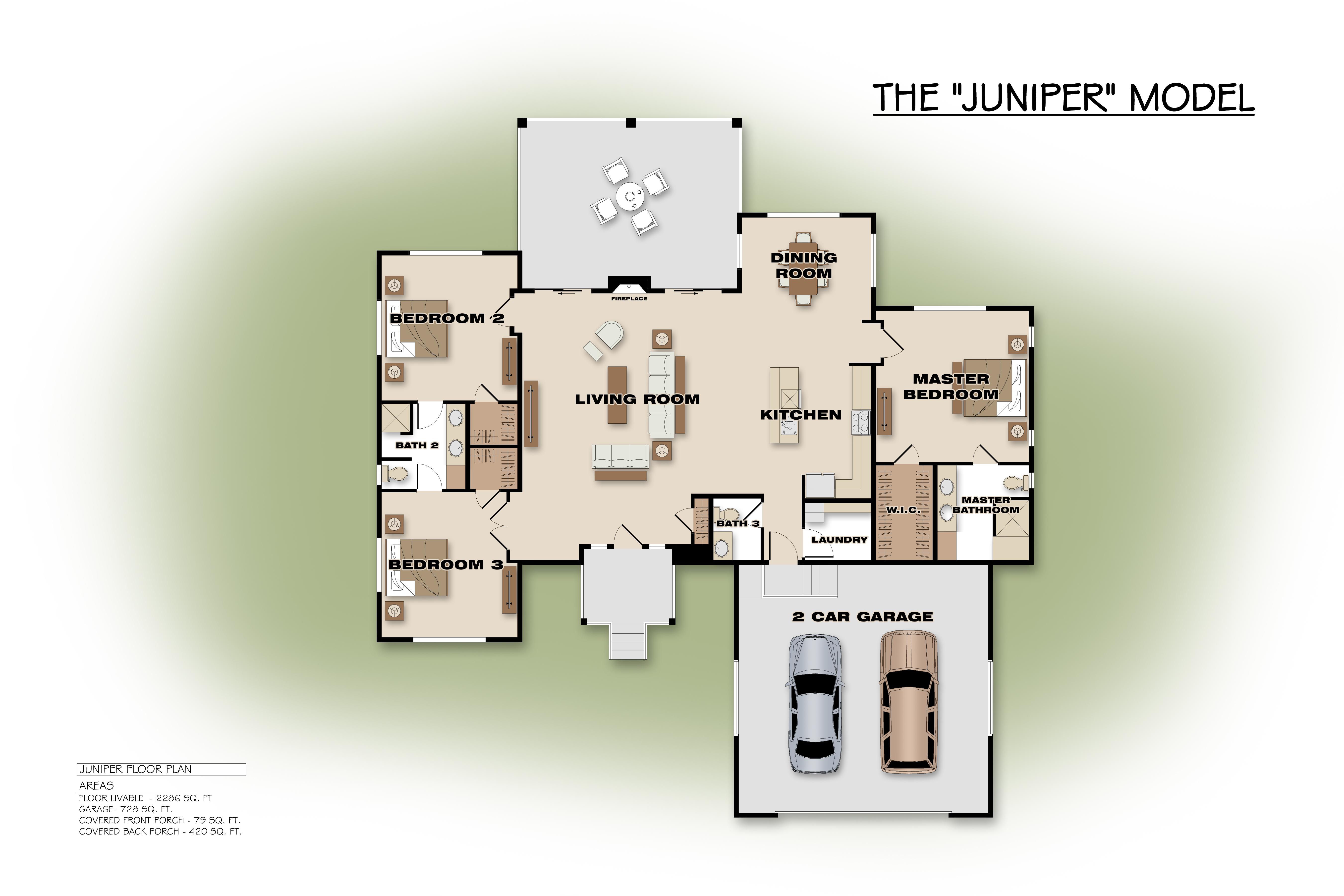 Floor plans snow creek arizona for Juniper floor plan